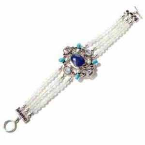 Nicky Butler Sterling Semi Precious Stone Bracelet